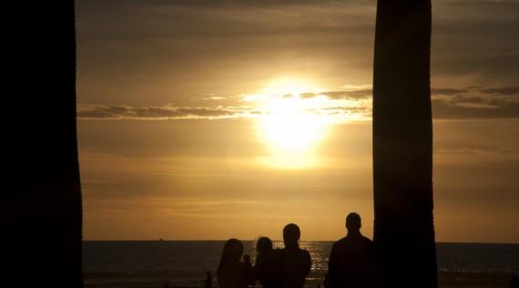 Coucher de soleil sur l'océan Pacifique, San Diego, USA