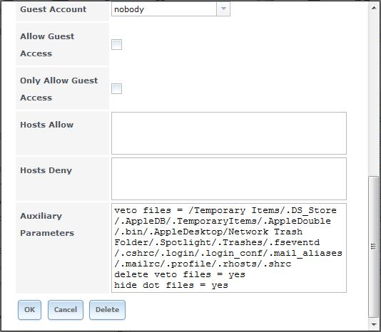 FreeNAS - Créer un partage CIFS