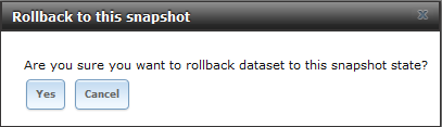 Restaurer un volume ou un dataset à partir d'un snapshot