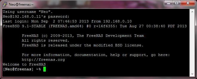 Feenas Connexion SSH établie